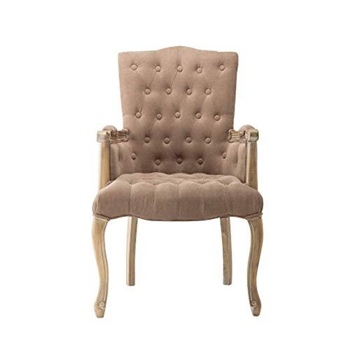 Moderne Esszimmerstühle - Vintage Massivholzstuhl - Rückenlehne Sessel for Zuhause/Arbeitszimmer/Café/Restaurant/Wohnzimmer/Konferenzraum Weiß 59x55x102CM Geeignet for Wohnzimmer, Schlafzimm