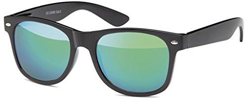 MOKIES Unisex Sonnenbrillen - UV400 Filterkategorie 3 CE Kennzeichnung - Wayfarer Design - Polycarbonat - mit Federscharnier - 102 Grün