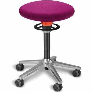 Ongo Sitz- und Stehhocker Roll 54-65cm Flachsitz Kvadrat divina pink/schwarz