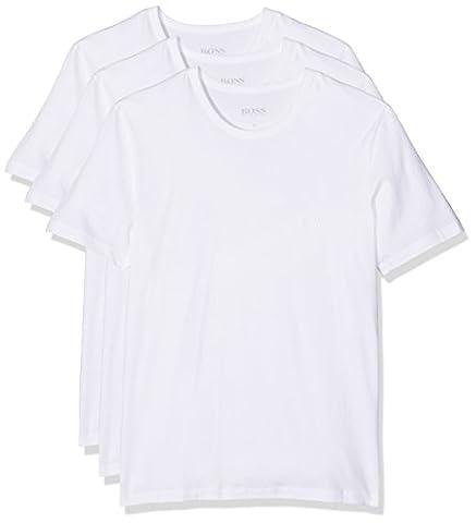 BOSS Hugo Boss Herren T-Shirt RN 3P CO, Weiß (White 100), Small