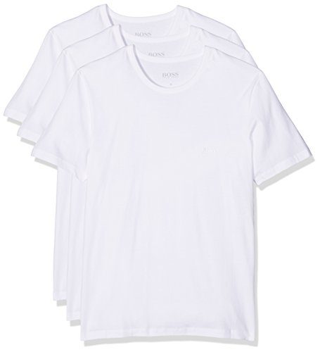 BOSS Herren T-Shirts RN 3P CO, 3er Pack, Weiß (White 100), Large