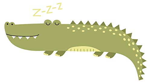 Wandtattoo Afrika Krokodil Wandsticker Alligator Dekoration Tiere (Alligator-wandtattoo)