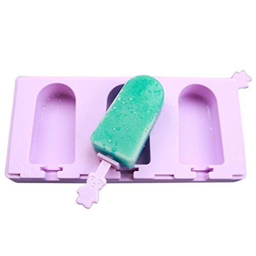 Yintiod Sommer Silikon EIS Form Wiederverwendbare Saft Würfel Tablett gefroren EIS am Stiel Lolly Pop Formenbauer Werkzeuge