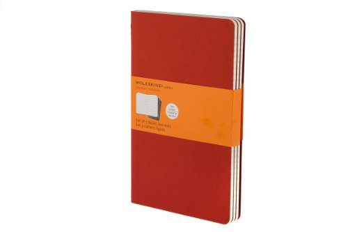 Moleskine Ruled Cahier L - Red Cover (3 SET) par Moleskine