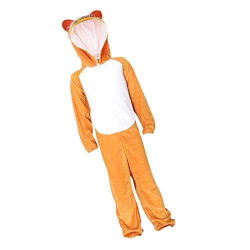 Fenteer Unisex Jumpsuit Anzug Tiere Kostüm Verkleidung Karneval Overall für 120-130cm Kinder - Affe, Einheitsgröße