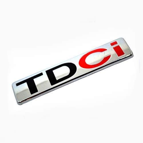 Chrom TDCI 83mm x 18mm Rückseite Kofferraum Deckel Tailgate Trunk Abzeichen Aufkleber Emblem Für Focus Fiesta Transit Mondeo B C S MAX -
