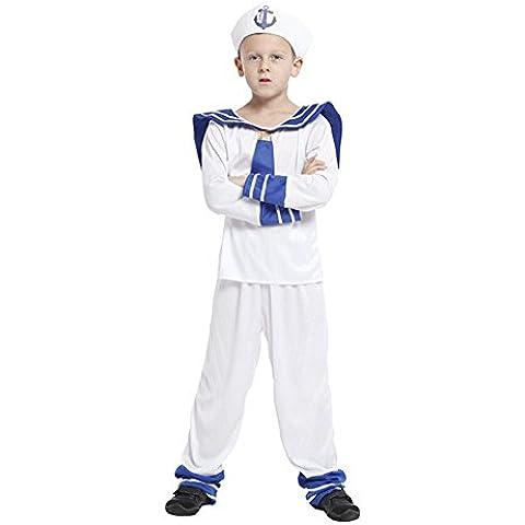 Moollyfox Per Bambini Marine Marinaio Cadet Uniform Costume Ragazzi Costume Marinaio Come Immagine XL