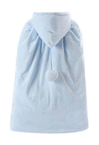 Babymantel Herbst Winter Mittel dicke warme Baumwollschal Out Kleidung blau