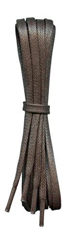 Gewachste Baumwolle Schnürsenkel - Dunkelbraun - 6 mm flach - Ideal für Sport und Freizeit - Länge 110 cm - Hergestellt in England (Flache Sport-schnürsenkel)