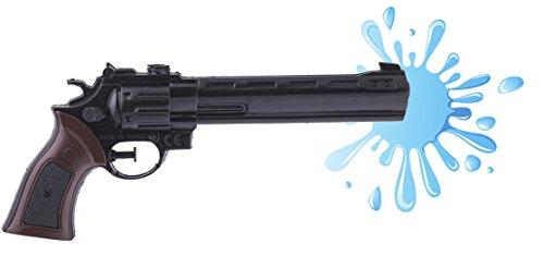 Zauberclown - Spielzeug Revolver Pistole-Spritzpistole- Cowboykostüm Bandit Räuber Mafia Kostüm, 11cm, Mehrfarbig