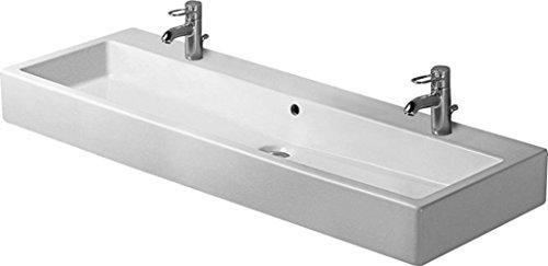 Duravit Vero Waschbecken (Duravit Waschbecken Vero Breite 120cm 2 Hahnlöcher, weiß, 454120024)