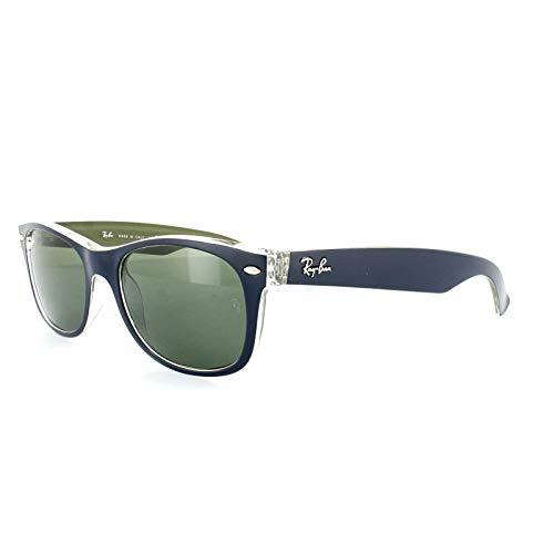 Ray Ban Unisex Sonnenbrille RB2132, Gr. 52mm, Blau (Gestell: Blau, Grün; Gläser: Grün)