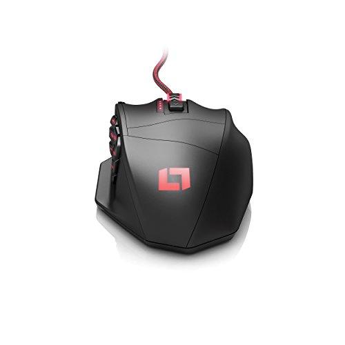 Lioncast LM30 Gaming Maus (19 Tasten, 16.400 dpi, MMO Laser Mouse) schwarz - 7