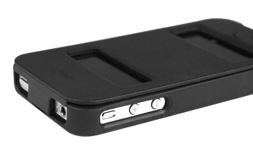 Macally Custodia Flip per iPhone 4S/4 - Nero