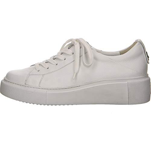 Paul Green 4836 Damen Sneaker aus Glattleder mit 30-mm-Plateauabsatz leicht, Groesse 39, weiß