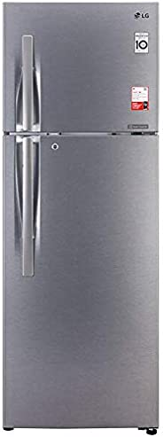 LG 360 L 3 Star Inverter Linear Frost-Free Double Door Refrigerator (GL-T402JDS3, Dazzle Steel, Convertible)