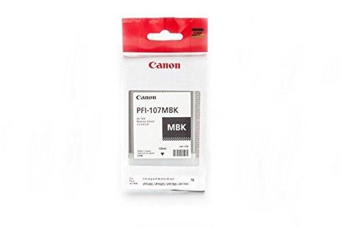 Preisvergleich Produktbild Original Tinte passend für Canon imagePROGRAF IPF 770 Series Canon PFI107MBK 6704 B 001 , 6704B001 , 6704B001AA - 1x Premium Drucker-Patrone - Schwarz matt - 130 ml