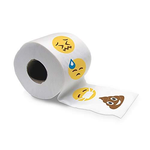 Toilettenpapier mit Emoji-Motiv