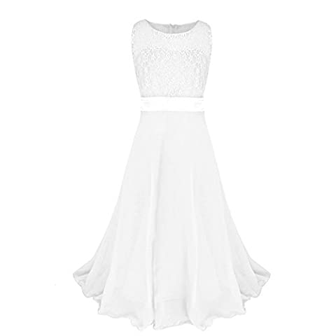 Eagsouni® Girls Lace Dresses Chiffon Flower Gown Wedding Bridesmaid Pageant Birthday Party Princess Long