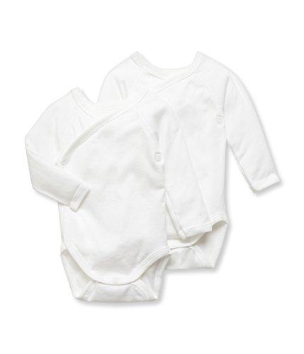 Petit Bateau Unisex Baby Body 2P N.ML, 2er Pack, Einfarbig, Gr. 62 (Herstellergröße: 3m/60cm), Weiß (SPECIAL LOT 00)