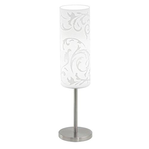 Design Tisch Lampe Glas weiß bedruckt Muster Beleuchtung Steh Stand Leuchte Eglo 90051