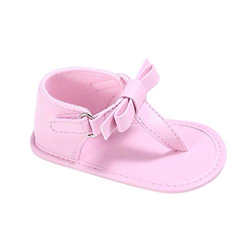 CHENGYANG Bébés Filles Nœud Papillon Sandales Mode Semelle Souple Princesse Chaussures pink