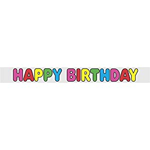 Partido Ênico 12 pies Foil Feliz cumpleaños Banner