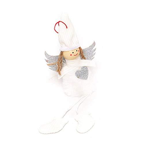 LLDHWX Weihnachten hängen Plüsch Figur Spielzeug Santa Claus gefüllt Classic Plaid Dekoration Ornament Adorable Holiday Week Weihnachtstag für Home Office Room Show Fenster (Große Claus Santa Gefüllte)