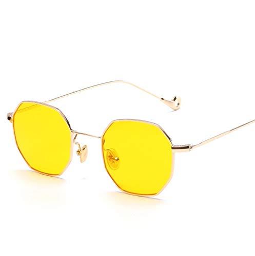 WYJW Männer und Frauen Modelle kleine quadratische Sonnenbrille Retro Sonnenbrille Mode Sonnenbrille flachen Spiegel