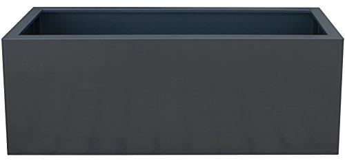 Palatino Exclusive Line Hochbeet/Pflanzkübel LOTTE aus verz. Stahl anthrazit 150 x 40, Tiefe 50 cm, modular