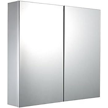 600700mm Wave Duo Hinged Door Stainless Steel Bathroom Mirror