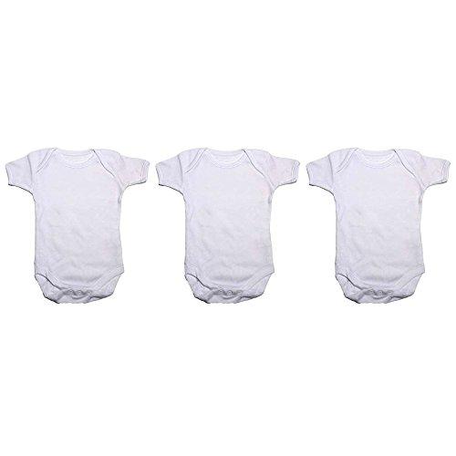 Bodys blancs à manches courtes 100% coton (lot de...