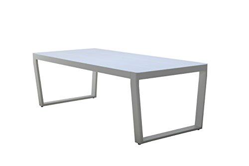 Leco Tisch Exklusivline Gartentisch, Weiß, ca. 220 x 100 x 74 cm