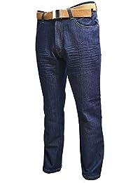 5781350d456963 Creon Previs Mens Classic Fit Blue Indigo Jeans (Kori)