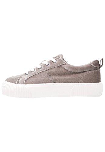 Even&Odd Sneaker Damen - Textil Schnürschuh mit Plateau Sohle - Sportliche Schuhe in Grau, Größe 40