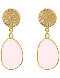 Córdoba Jewels | Pendientes en plata de Ley 925. Diseño Gran Denario Oro en Rosa de Francia