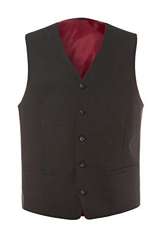 JP1880 Herren große Größen | Business-Weste | knitterfrei, pflegeleicht & bequerm | feine Qualität | bis Größe 35 | schwarz 32 705530 10-32