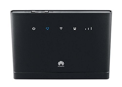 Huawei Unlocked B315 4G/LTE 150 Mbps Mobile Wi-Fi Router (Genuine UK Stock) with 6 GB EE Sim Card - Black