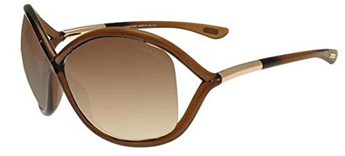 Sonnenbrillen Tom Ford WHITNEY FT 0009 TRANSPARENT DARK BROWN/BROWN SHADED Damenbrillen