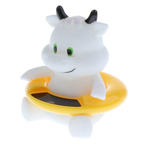 B Baosity Thermometer Spielzeug für die Badewanne, Baby, Kleinkind, Wassertemperatur-Tester - Weiße Kuh