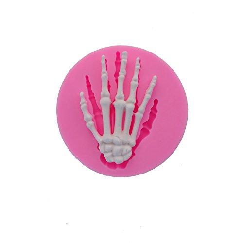 Beauty 's Castle DIY 3D weiß Knochen Hand Seife Form, Silikon Form für Fondant, Schokolade Kuchen Form Dekorieren, Fondant Backen Werkzeug