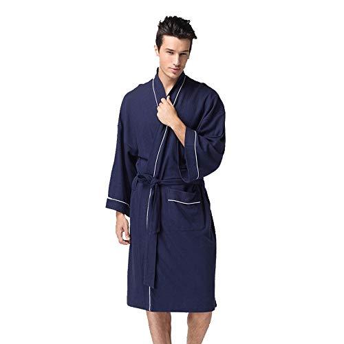 Lmmet accappatoio per uomo lungo scialle con cappuccio spugna microfibra tasche cintura regalo perfetto per palestra spa regalo abito da coppia