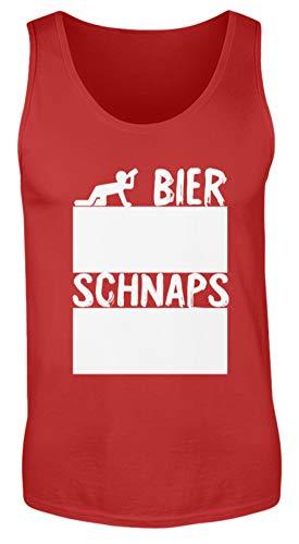 generisch Bier Und Schnaps Strichliste Für Partys Inkl. 12 Stück Kreide - Mit Kreide Beschreibbar - Herren Tanktop -S-Rot -