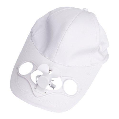 Preisvergleich Produktbild ma-on solarbetriebene Luft Lüfter gekühlt Baseball-Mütze w/Solar Panel auf der Cap (weiß)