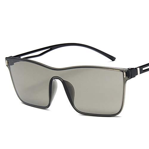 GJYANJING Sonnenbrille Einteilige Cat Eye Sonnenbrille Frauen Gradient Lens Retro Spiegel Randlose Sonnenbrille Vintage Reise Eyewear Uv400