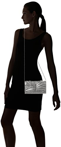 SwankySwans Damen Serafina Shimmer Glitter Clutch Bag Gold Tasche Silber