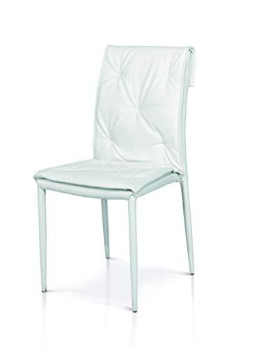 2 unit/à Bianco Fashion Commerce Sedie FC02-977