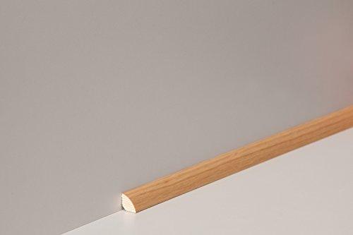 Eiche Dünn (Leiste Viertelstab-14 (14x14 mm) Eiche natur lackiert)