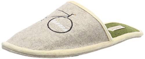 Adelheid Sportskanone Filzpantoffel, Größe:46/47, Farbe:Eiche