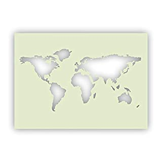 594 x 841 mm A1 Schablone Weltkarte